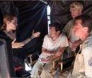 Анджелина Джоли на съёмках фильма «Несломленный»