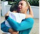 Крис Мартин с сыном Мозесом