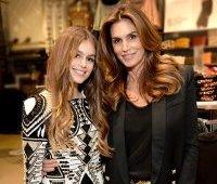 Cindy Crawford с дочкой, ноября 2015