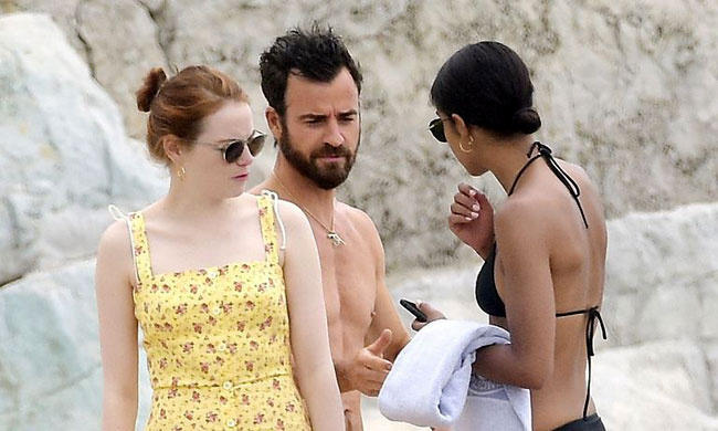 emma-stone-justin-theroux-laura-harrier-2018