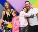 Гвинет Пэлтроу и Крис Мартин с детьми