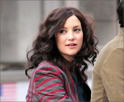 Кейт Хадсон на съёмках фильма «Фундаменталист поневоле»