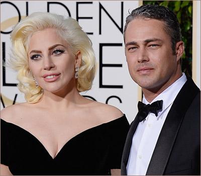 Леди Гага и Тейлор Кинни, Золотой Глобус 2016