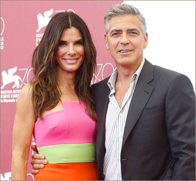 Сандра Буллок и Джордж Клуни, Венцианский кинофестиваль, 2013